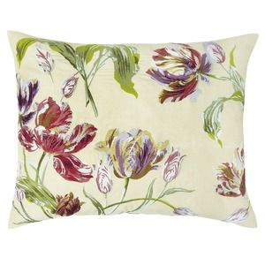 Gosford Cranberry Floral Embroidered Cushion
