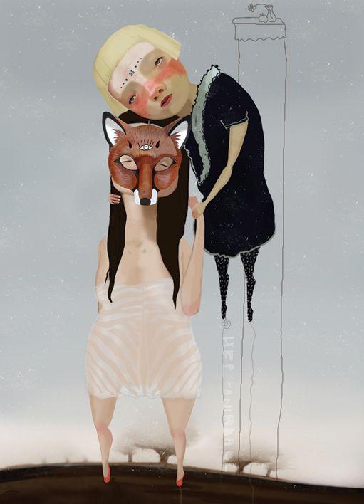 Espinhas e distúrbios humanos em retratos ilustrados - Marve Morkoc