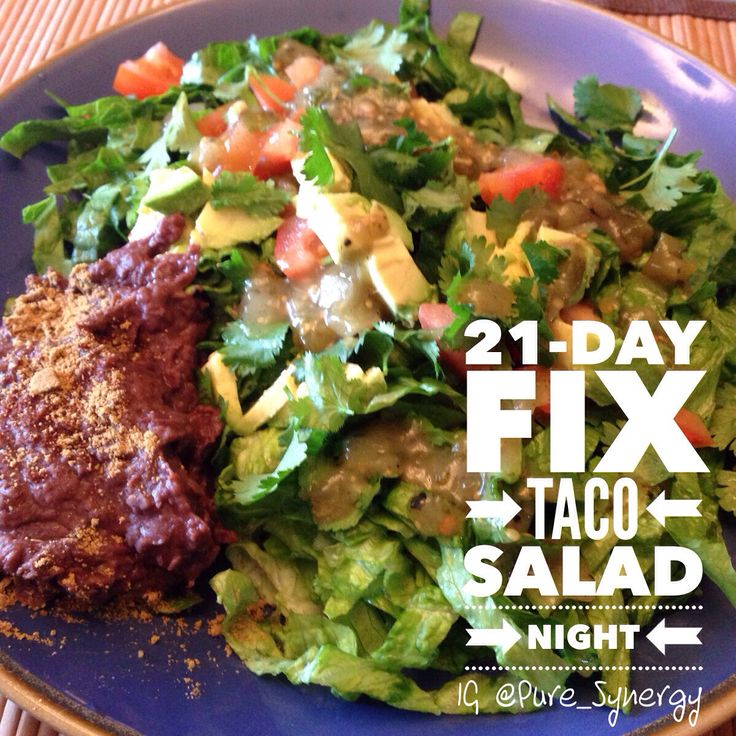 21-Day Fix vegan taco salad