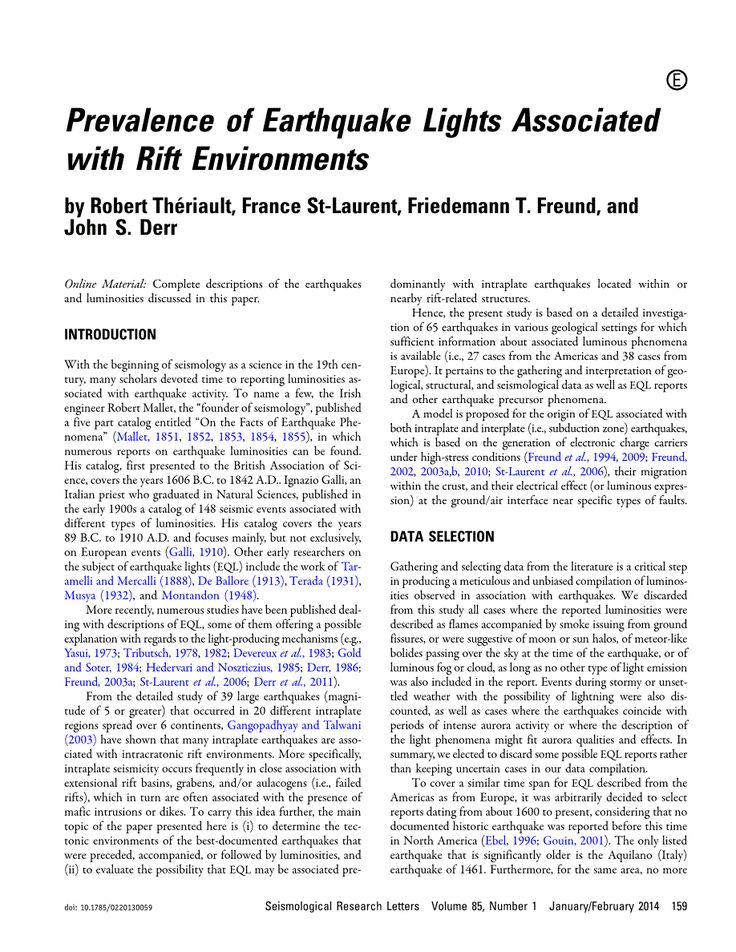 Research papers | EQC Earthquake Commission