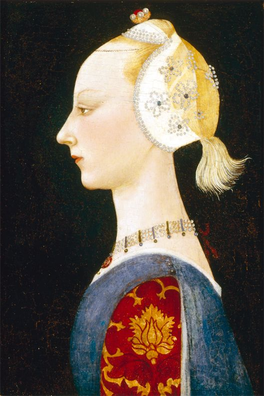 Portrait of a young lady of fashion,c.1460 by Paolo Uccello