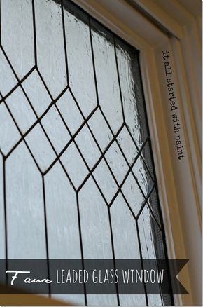 faux leaded glass window - tutorial on how to easily give your windows a leaded glass look