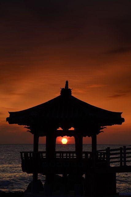 Sunrise in sea, South Korea