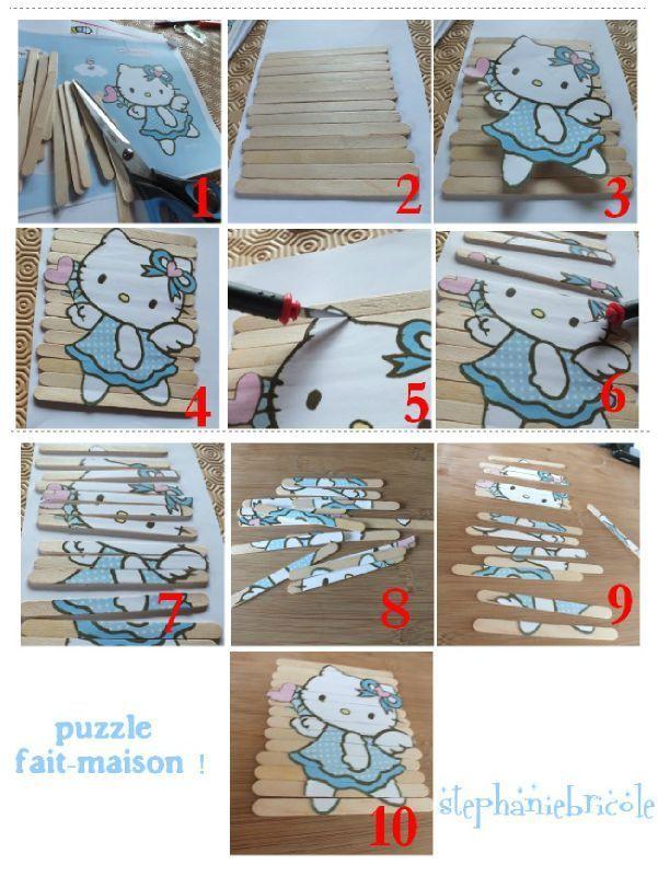 faire puzzle soi-même, idée activite puzzle pour enfant