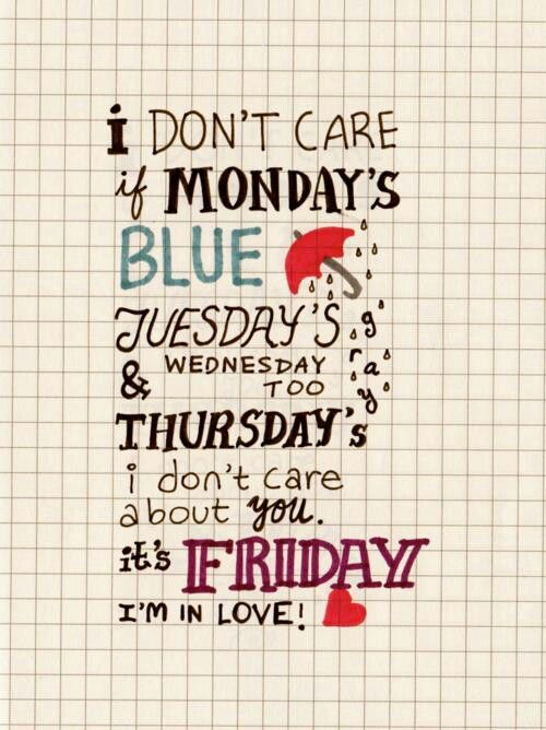 Friday, I'm in love - The Cure. #Lyrics #Music