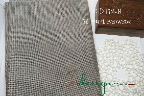 Check out this item in my Etsy shop https://www.etsy.com/listing/552952988/28-count-old-linen-hand-dyed-evenweave