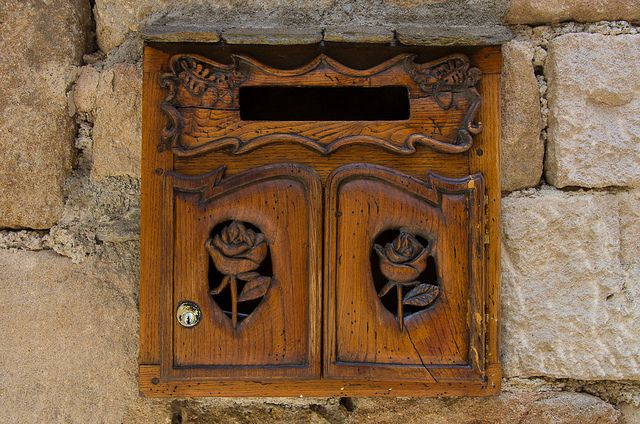 Hand-Carved French Mail Box