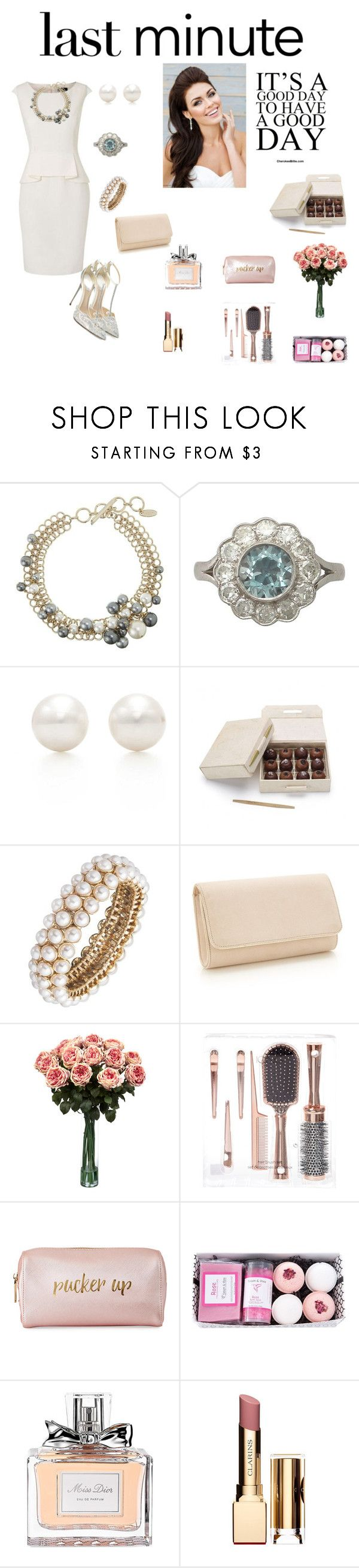 """""""Presentes de última hora férias"""" by daianetavares310 ❤ liked on Polyvore featuring Lanvin, Tiffany & Co., Anne Klein, Christian Louboutin, Nearly Natural, Neiman Marcus, Christian Dior, Clarins and Holidaygifts"""