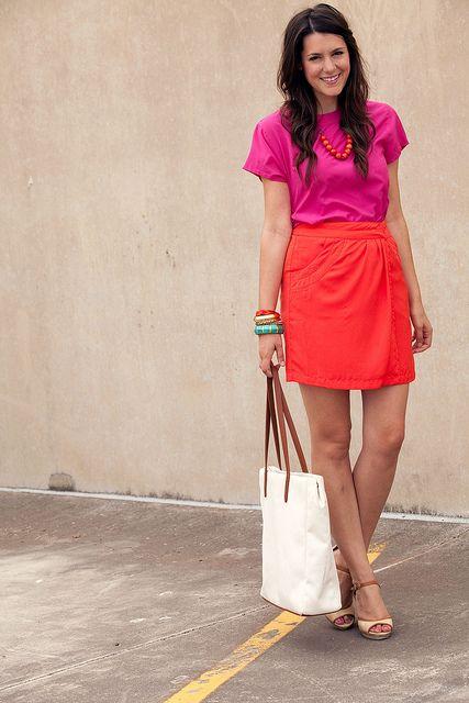 bright pink/orange