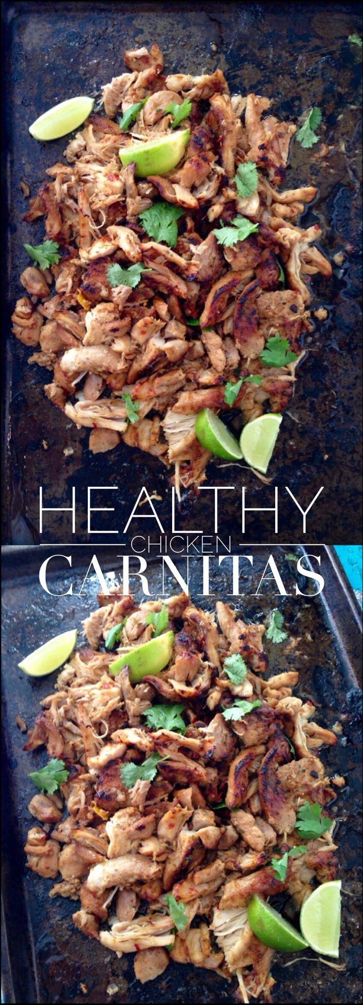 Chicken Carnitas Recipe ( Healthy ) | CiaoFlorentina.com