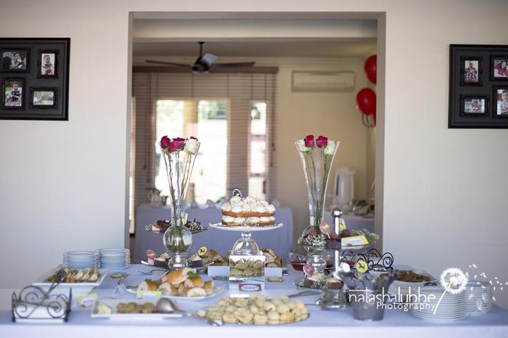 Adult food table at the Ferrari Birthday Party
