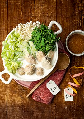 鶏だんごのほっこりミルク白湯鍋 のレシピ・作り方 │ABCクッキング ... 材料:2人分