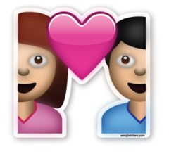 Couple with Heart | Emoji Stickers