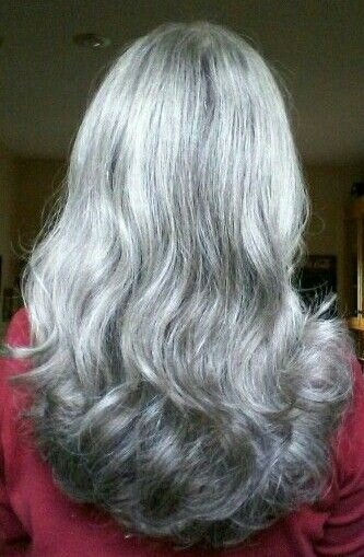 Long gray hair This is what I want!                              …