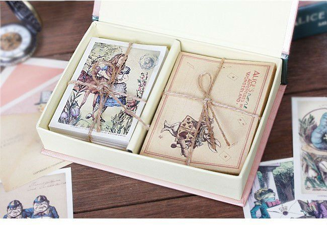 Free Shipping/ 60 postcards+ 36 pcs Envelope/ Alice In Wonderland Vintage Postcards/ European Vintage Stationery wholesale-in Crafts from Home & Garden on Aliexpress.com