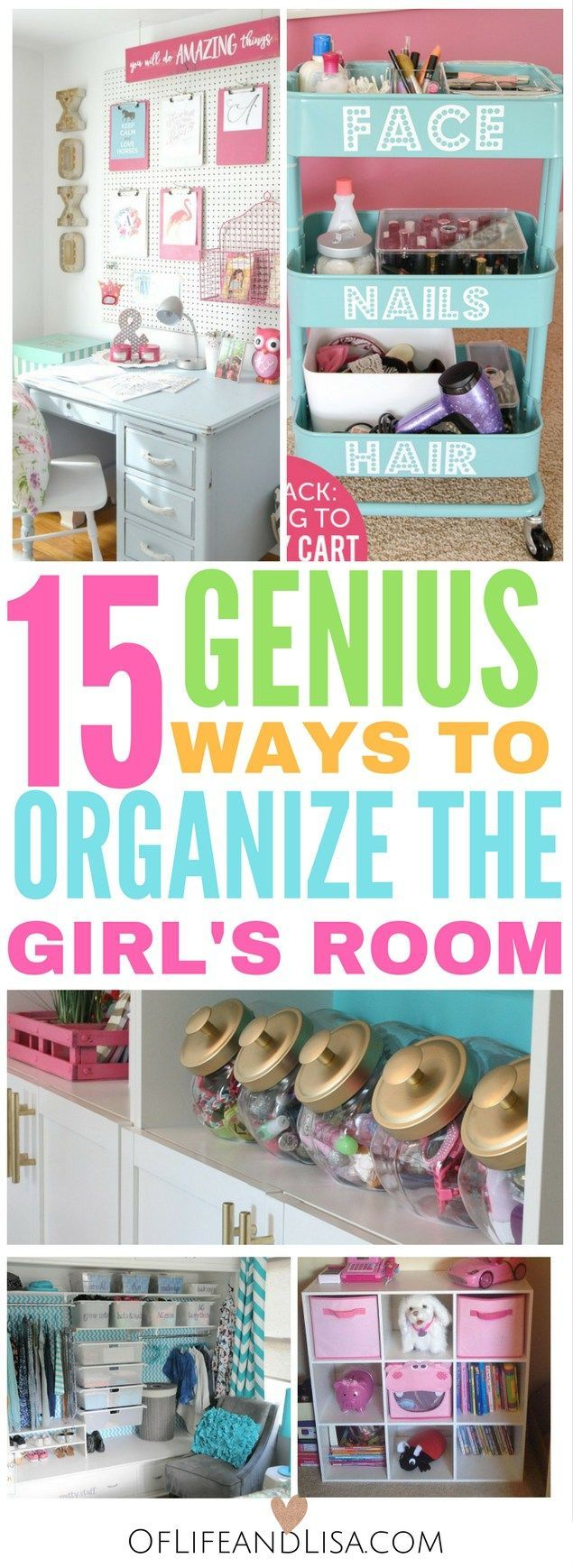 I love these budget-friendly ways to organize my girls bedroom. I love these bedroom organization ideas!