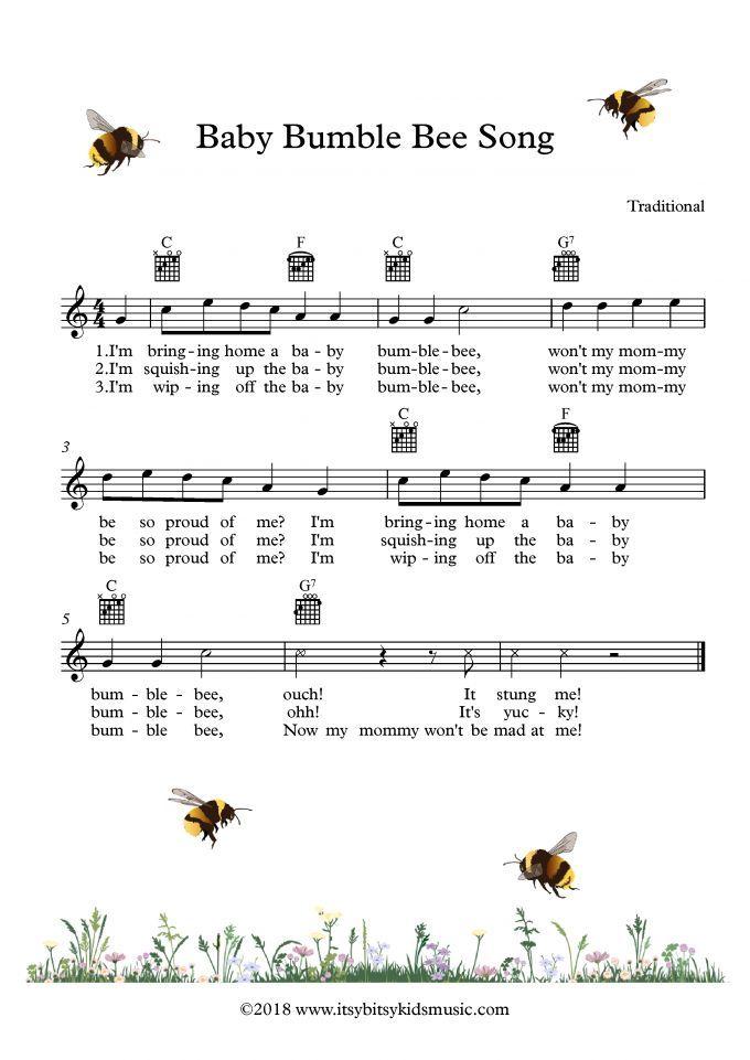 Baby Bumblebee Song Baby Bumble Bee Song Baby Lullaby Lyrics Children Songs Lyrics
