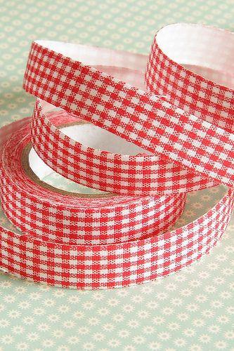 Скотч тканевый Красный. - ярко-красный,декоративный скотч,тканевая лента