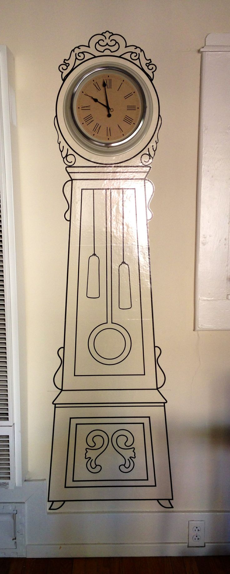 Grandfather clock wall sticker from ikea my diy my projects pinterest clock grandfather - Wall hanging grandfather clock ...