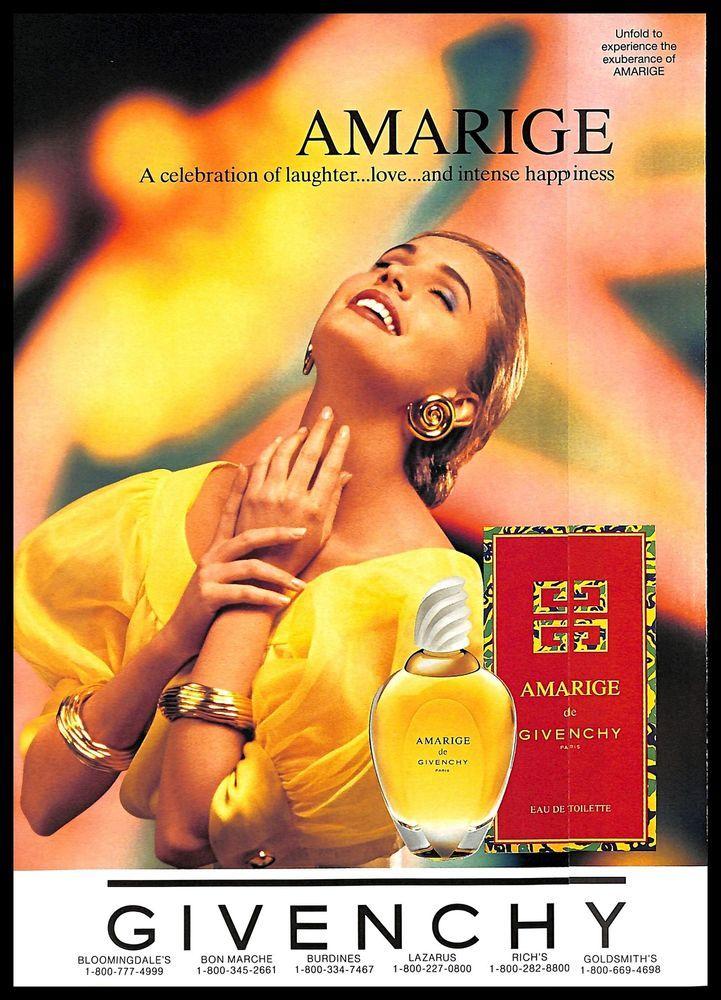 Perfume About Vintage Details Amarige Print 1993 Givenchy Scented Ad KJlF1c
