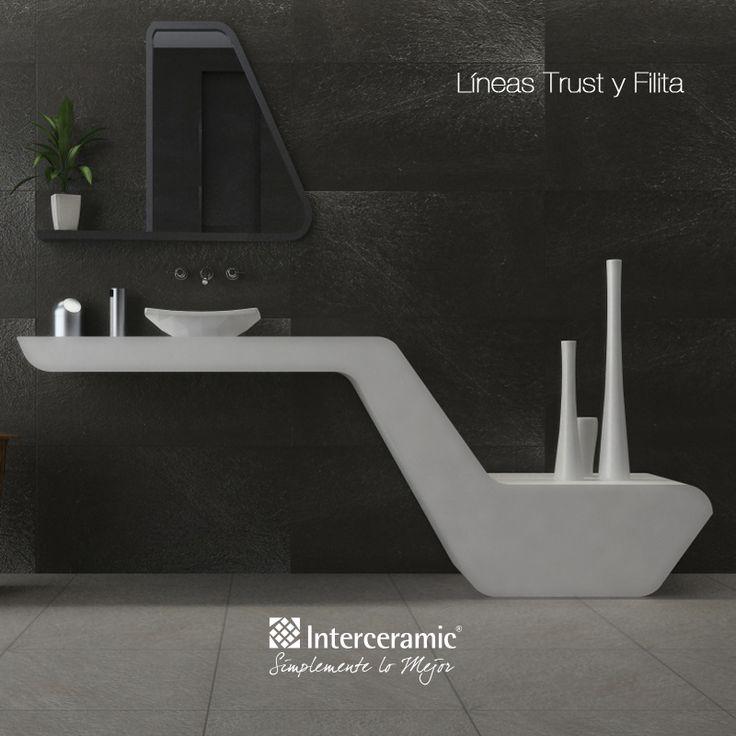Un ba o innovador para el medi ba o el mueble del lavabo for Interceramic pisos