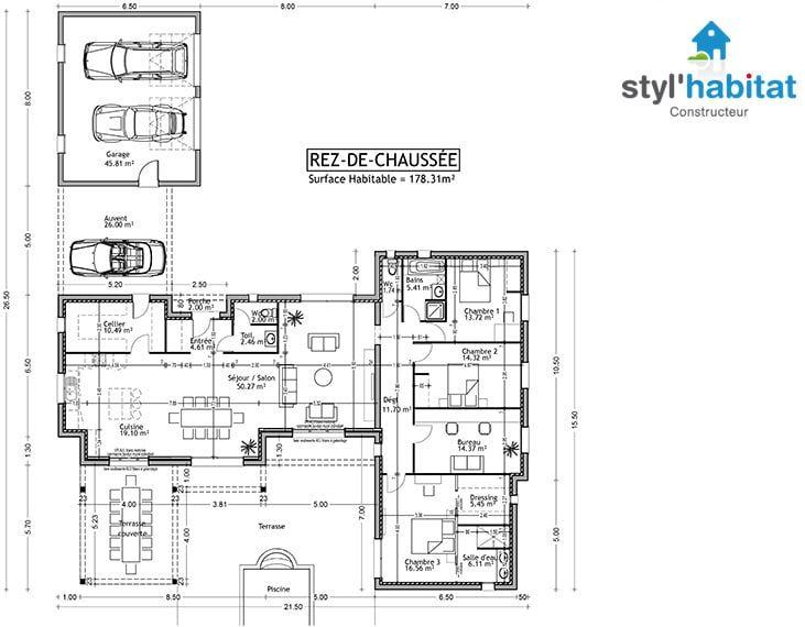 83 best plan images on Pinterest House design, Blueprints for - plans maisons gratuit logiciel dessin plan maison