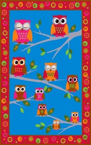 Hoot Hoot Childrens Rug- I NEED this!! So cute.