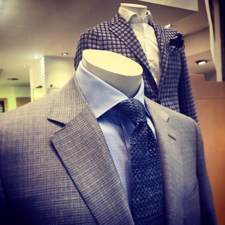 #Canali suit and #Barbanapoli checked jacket.
