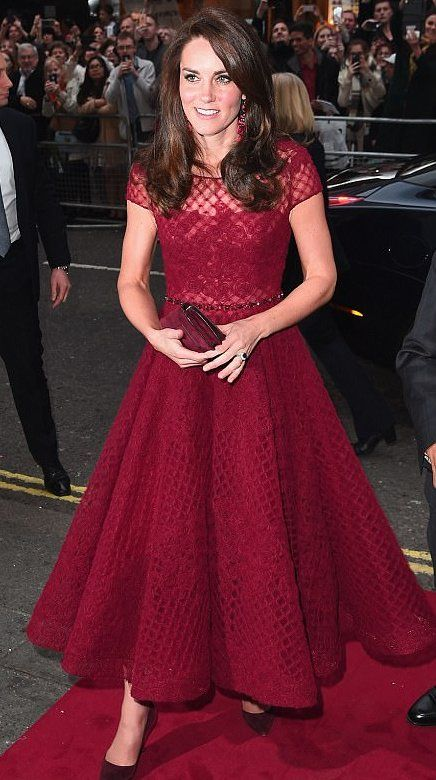 Catherine, The Duchess of Cambridge in Marchesa Notte attends opening night of the musical 42nd Street in London. #bestdressed