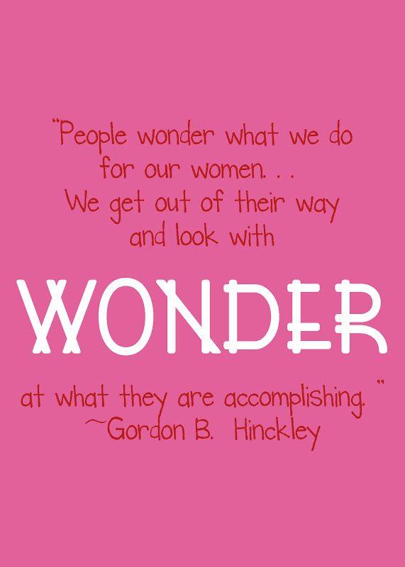 President Hinckley on LDS women
