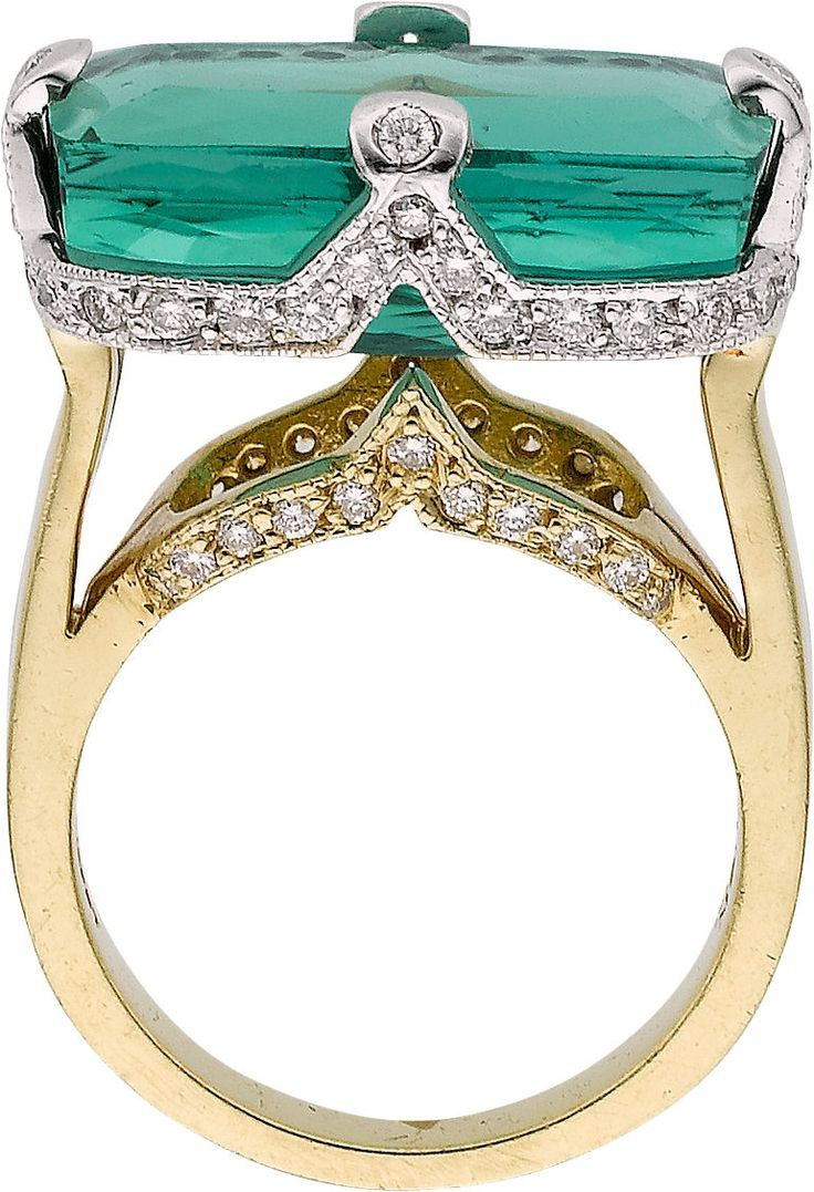Estate Jewelry:Rings, Tourmaline, Diamond, Gold Ring. ...HT