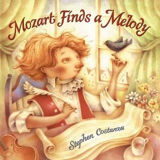 Mozart Finds a Melody: Taking inspiration from a true story about Mozart, Stephen Costanza takes liberties with actual events to create this charming picture book about the famous classical composer. Equally as charming are Costanza's muted yet dreamy illustrations, accompanied by a tad bit of whimsy thrown in for good measure.Famous Compo, Book Lists, Mozart Finding, Charms Book, Children Book, Music Classroom, Mozart Compo, Stephen Costanza, Pictures Book