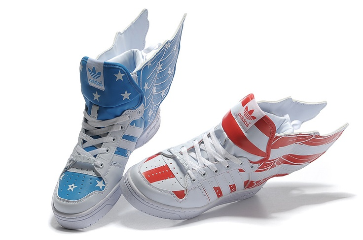 2012 Jeremy scott American flag shoes: American Flag