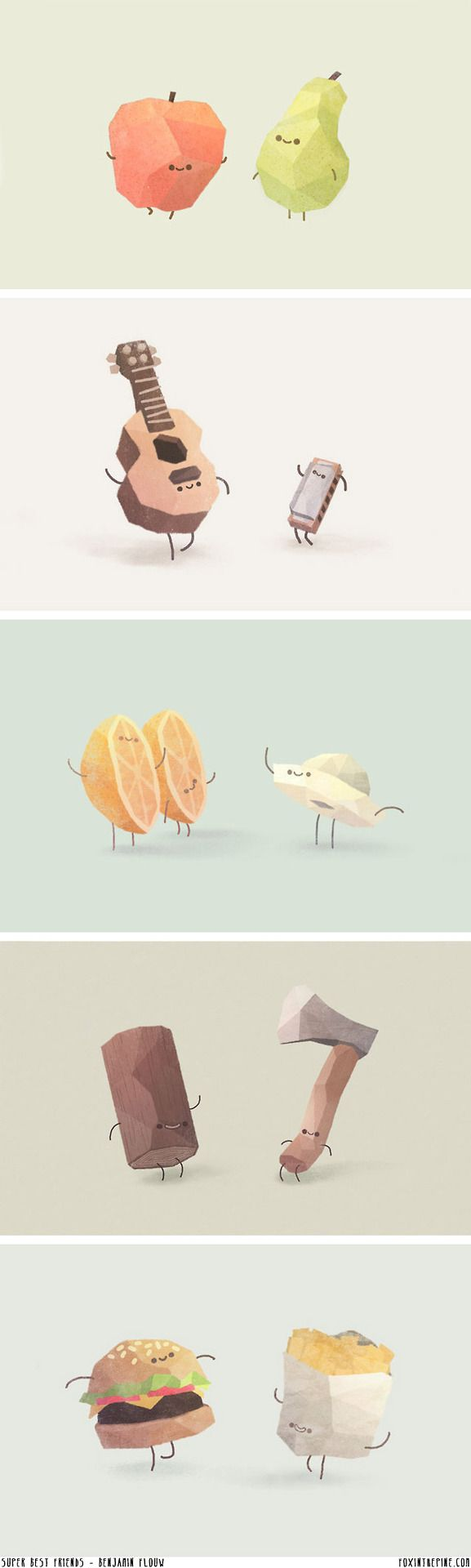 bella-illusione: Benjamin Flouw, a French designer, made these incredibly cute best friend posters.