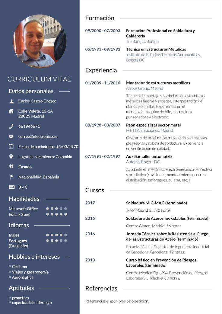 ¿Crear un Curriculum Vitae? • Descarga tu CV en tres pasos