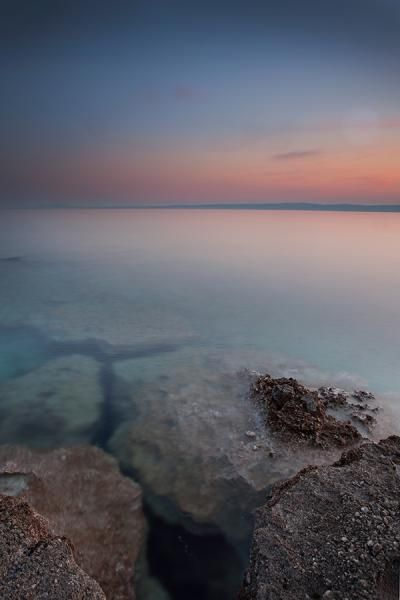 Sunset at the coast of Croatia at Krk. See more photo at www.bastianlinder.de