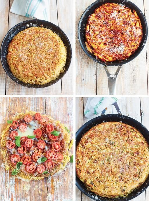 Pasta Frittata - The perfect way to use up last night's leftover pasta shells.