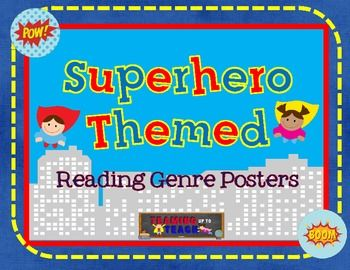 These Reading Genre posters are the perfect addition to any classroom, but especially one with a superhero theme! This set includes a set of 10 colorful and informative posters about different reading genres with definitions and graphics. The genres included in this unit are:- biography- autobiography- mystery- historical fiction- science fiction- realistic fiction- poetry- fantasy- non-fiction- folktaleBe sure to check out my TPT store for additional Superhero Themed Reading posters!If you…