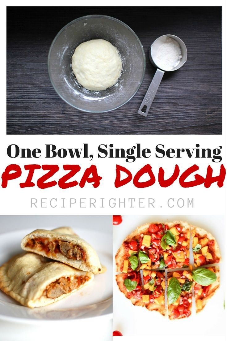 This single serving pizza dough is perfect for 1 person, or to make a small appetizer. You can make pizza, a calzone, stromboli, breadsticks, or a pretzel. Clean up is easy! The dough itself is vegan, do what you please with it!
