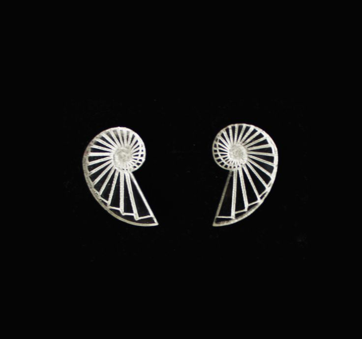 Spiral Staircase Stud Earrings by CutOutsProductDesign on Etsy
