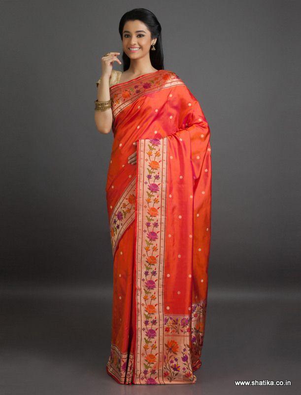 Babita Brocaded Bel #Pattern #BanarasiShaluSilkSaree