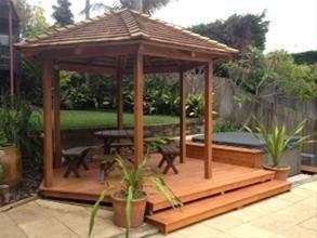 Gazebo, Outdoor Pavillions, Bali Huts, Pool Cabanas from Cedar Roofing