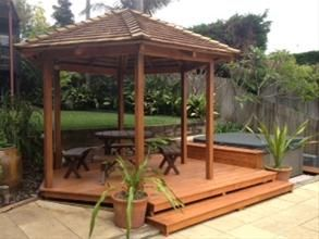 Gazebo, Outdoor Pavillions, Bali Huts, Pool Cabanas from Cedar Roofing