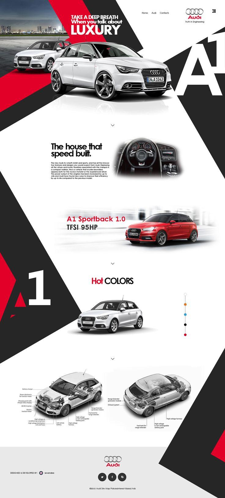 Audi (A1) Redesign website on Behance