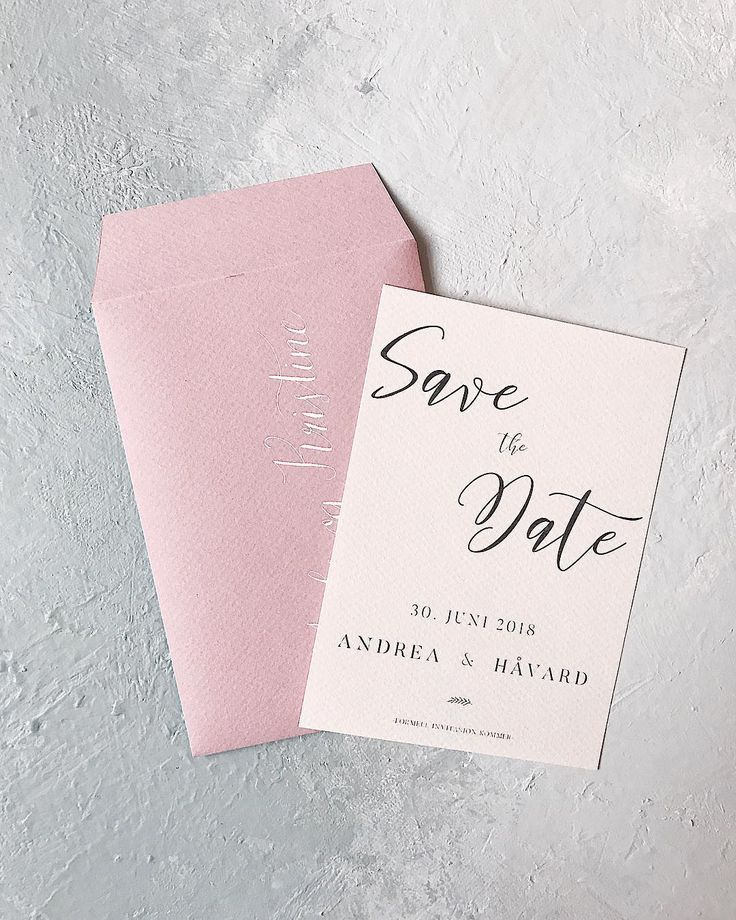 Bespoke save the date // handmade, wedding, blush, envelopes