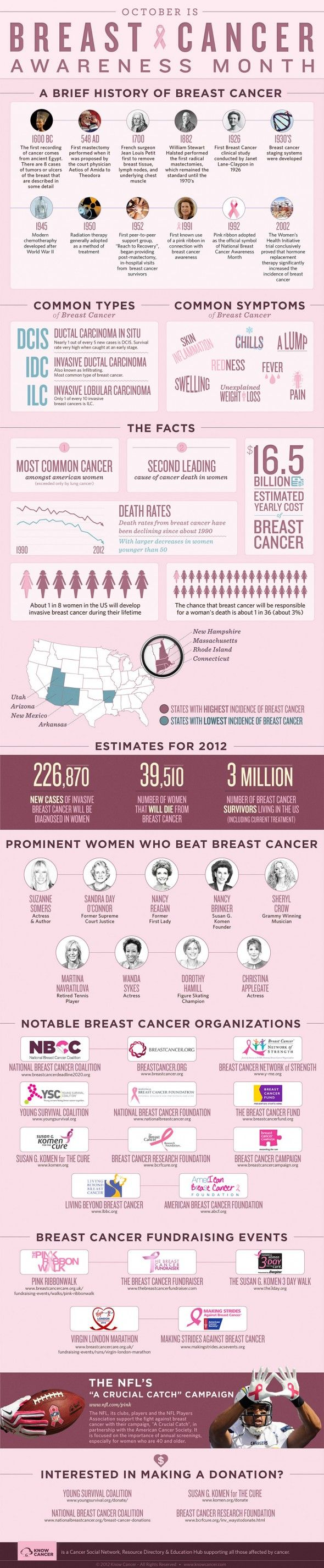 #BreastCancer Awareness Month is coming up in October. Check out this interesting #infographic.  For more information on Breast Cancer, visit the Breast Cancer Resource Center at ChemotherapyAdvisor.com: http://www.chemotherapyadvisor.com/breast-cancer/section/2400/