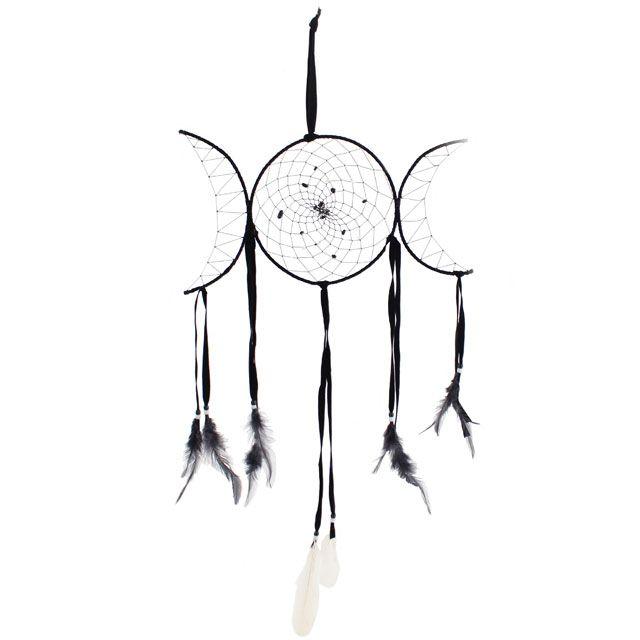 Drömfångare - Wicca trippelmoon 80cm
