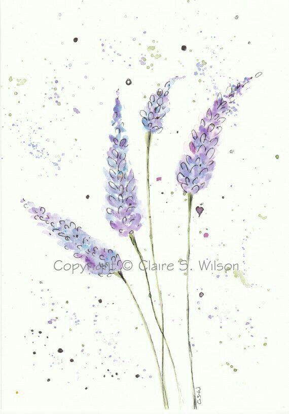 Lavender Paint Ideas For Your Home One Kings Lane: Watercolor Art, Lavender
