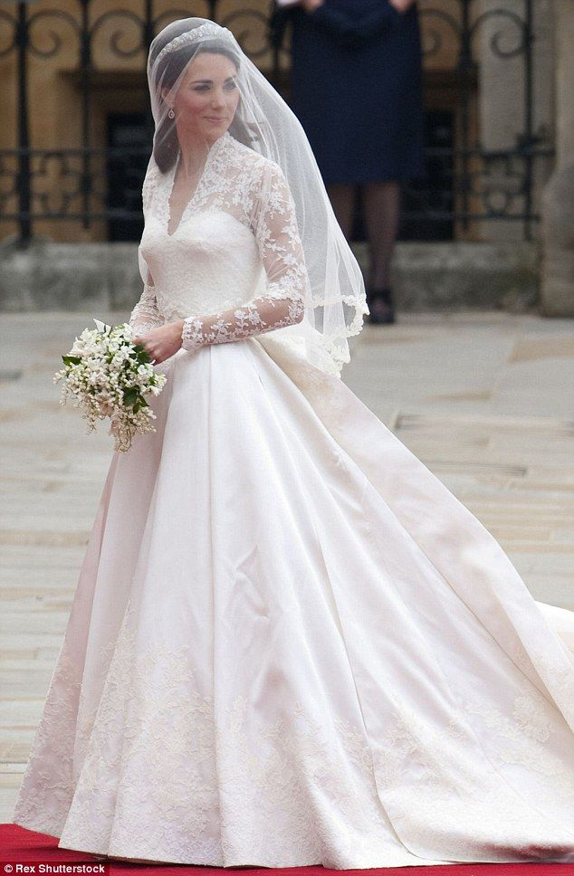 Kate Middleton wed Prince William in 2010 wearing a gown designed by Sarah Burton for Alexander McQueen