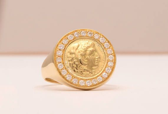 Sovereign Man Ring, Signet Ring ✪ Have been looking lately for that one piece which will fit your ring size, and also make you to stand out and express your status?? ✪ Impress, with this gold man ring, which is offered either in solid silver, or in Solid Gold with natural diamonds. Danelian Jewelry can create this design with any modifications asked. Leave us your message. Thank you all for the support with our Etsy presentation shop, Pinterest boards and the rest of our friends!! Glad to…